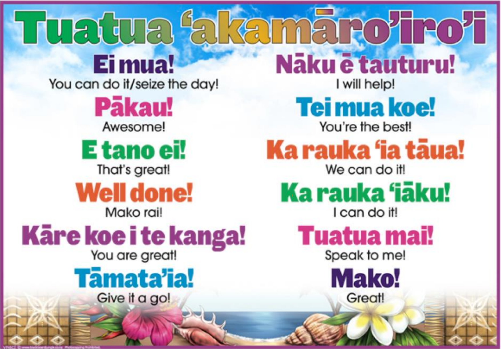 Your Introduction to Cook Island Language