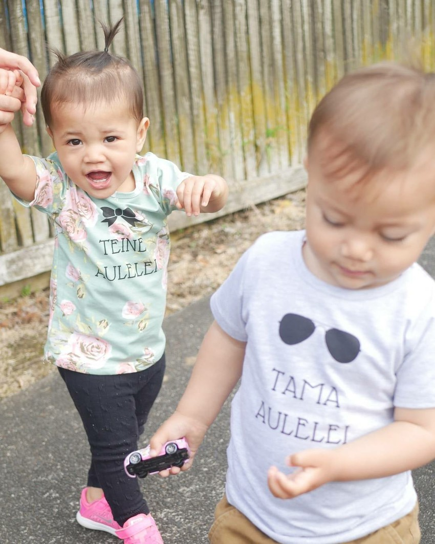 Island Pepe toddler tees with island phrases