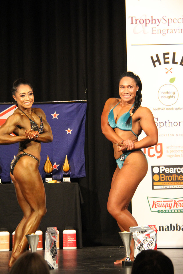 Priscilla competing at the NABBA New Zealand Nationals in Palmerston North