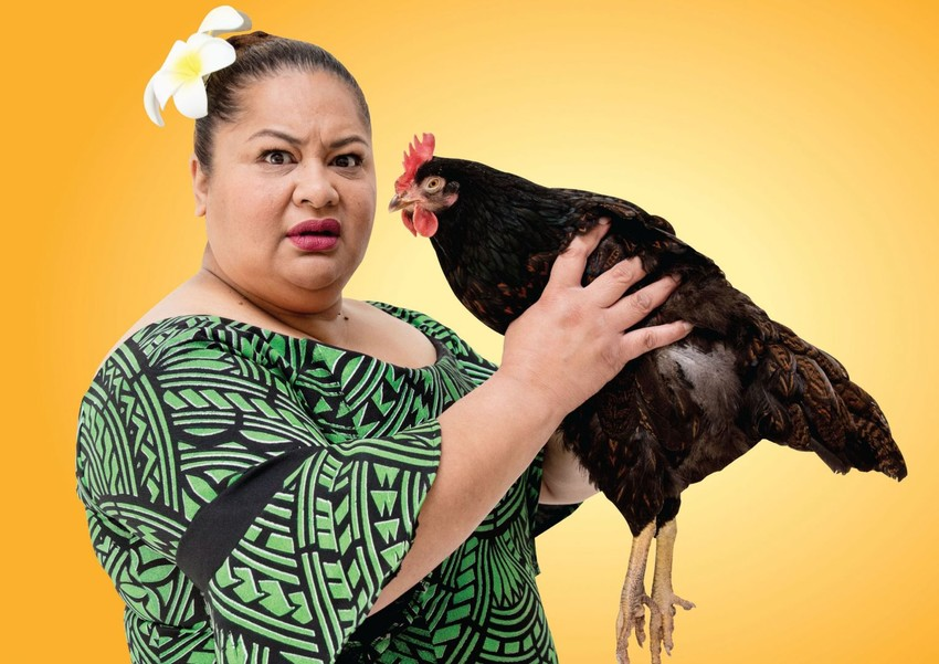 Goretti in her role as 'Still Life with Chickens'