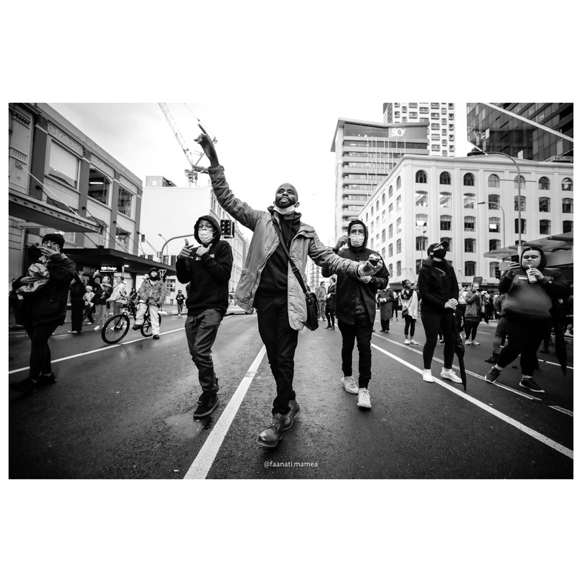 Black Lives Matter march, Auckland, 01 June 20 - Full Photo Set credit/Copyright to: Fa'anati Mamea