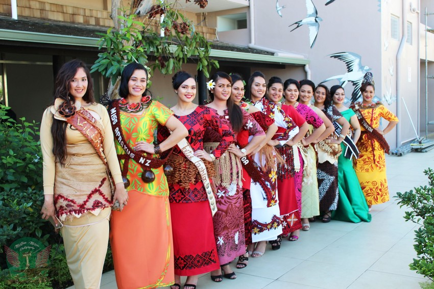 Miss Heilala 2018 contestants.