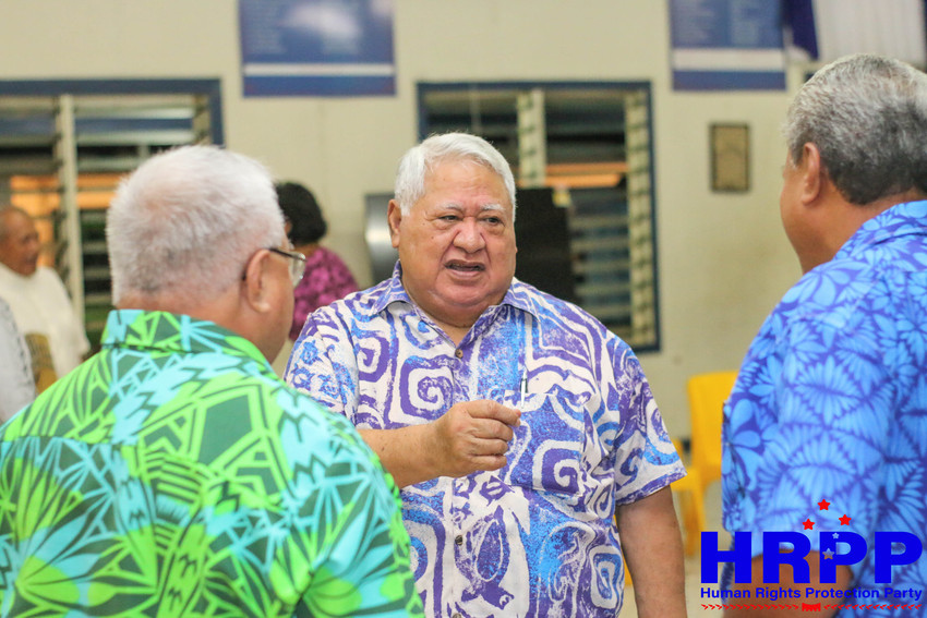 Leader of the HRPP and caretaker government Tuilaepa Aiono Sailele Malielegaoi Photo Credit: HRPP Facebook page