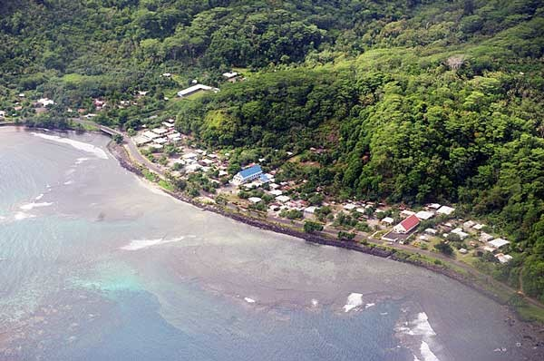 Aerial view of the coastline of Aleipata in 2011. Photo credit: Samoa Times