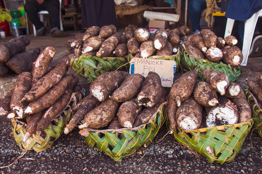 Food & Vegetables at the markets in Nukualofa