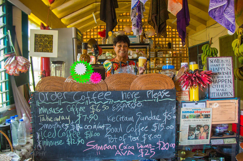 Asaga Coffee Garden - one of the only places on the island that sells espresso coffee