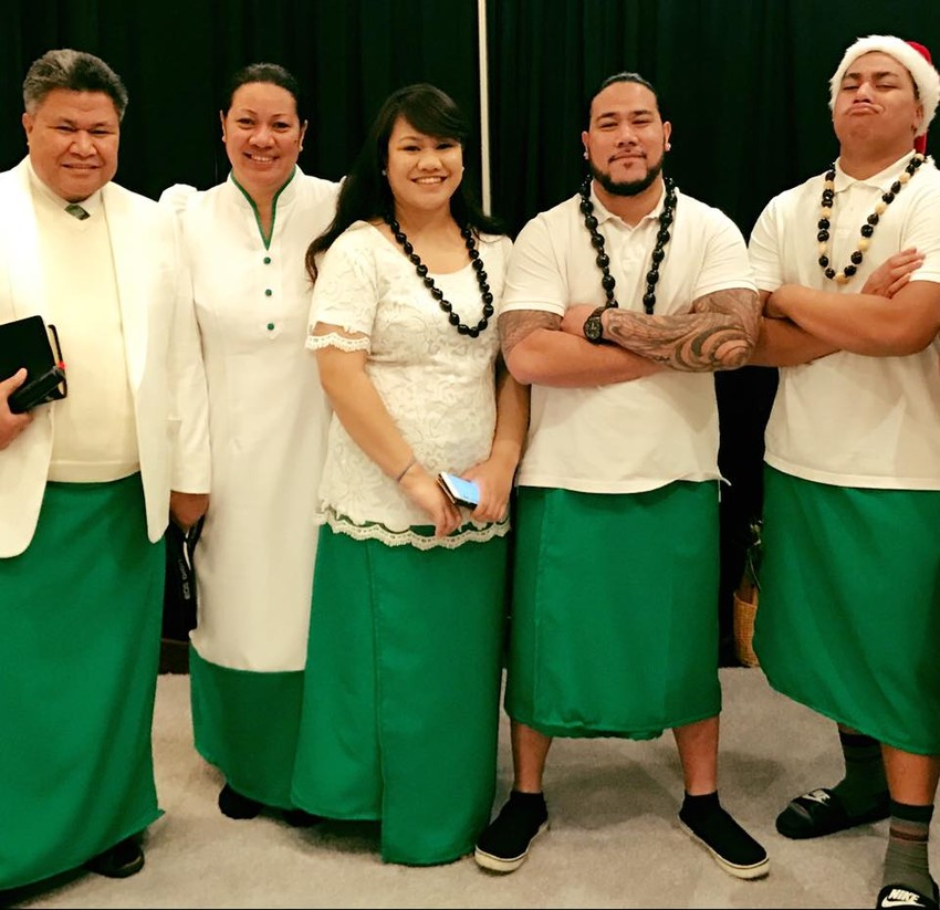 Tai with his siblings and parents. His father Tautala'aso Fa'aleava is a Pastor.