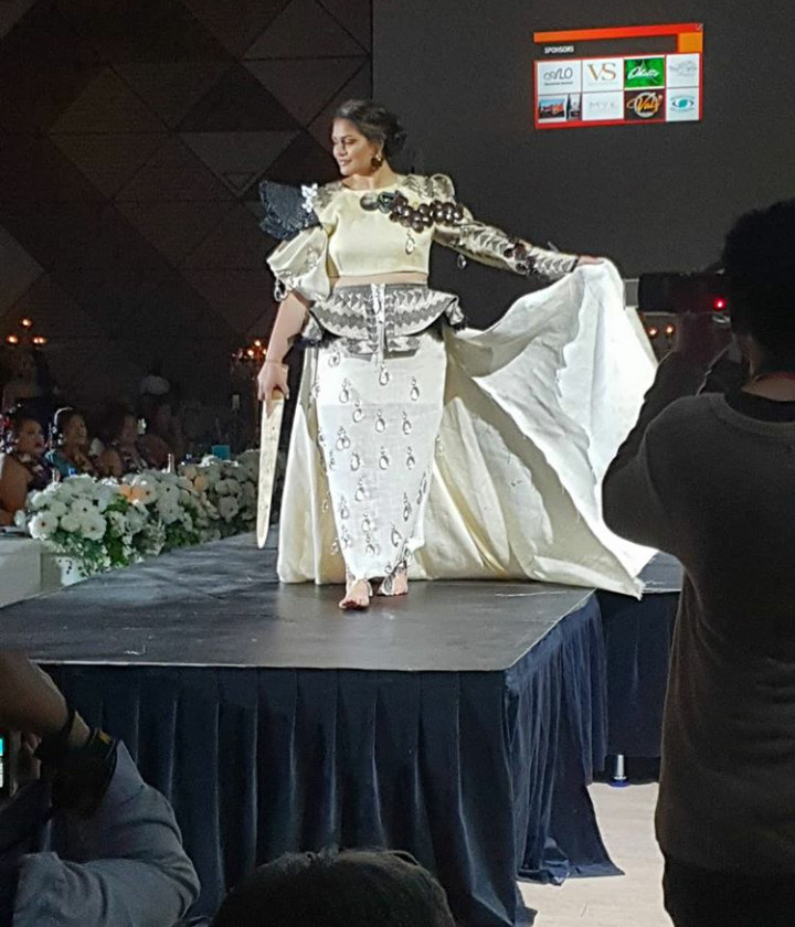Tongan Contestant Lateisha Afu in her traditional wear by designer: Iki Haangana
