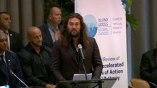 JASON MOMOA ADDRESSES THE UNITED NATIONS SMALL ISLANDS EVENT