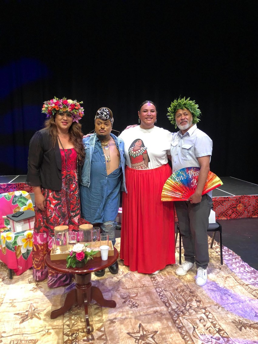 44 (Fafa) Panelists at the first ever Pasifika Pride Festival at the Mangere Arts Centre L-R Phylesha Acton-Brown, Gee Gee, Peyton Wolgramm & Teokota'i Paitai