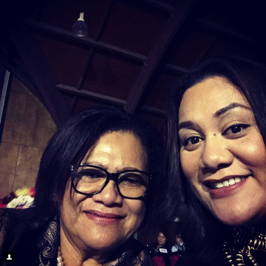Joanna with her Mum at the Miss Heilala contest in Tonga a couple of years ago