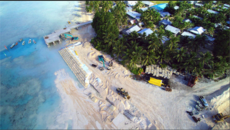 NEW SEAWALL FOR TUVALU