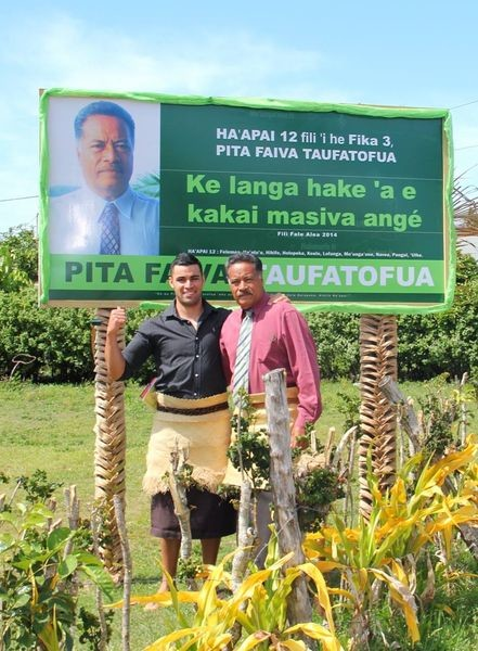 Pita and his father in Tonga