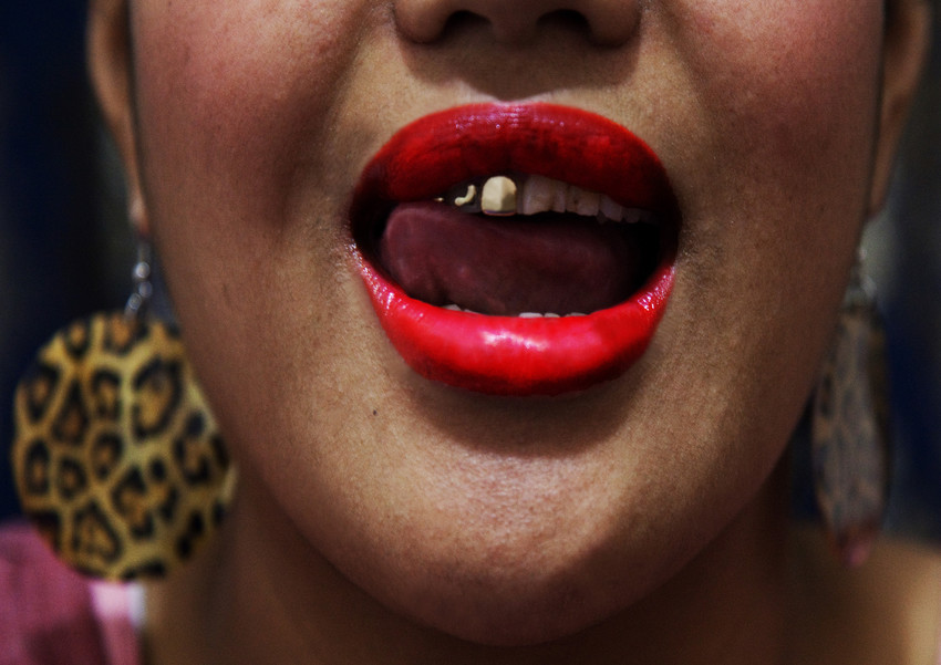 "An excerpt from Ane Tonga's work ""Grills"""
