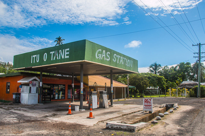 Gas station in Manase (almost straight across the road from Reginas Beach Fales)