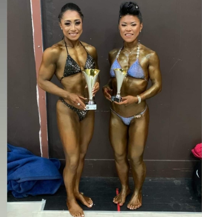 Priscilla with her Novice Physique Short Class award