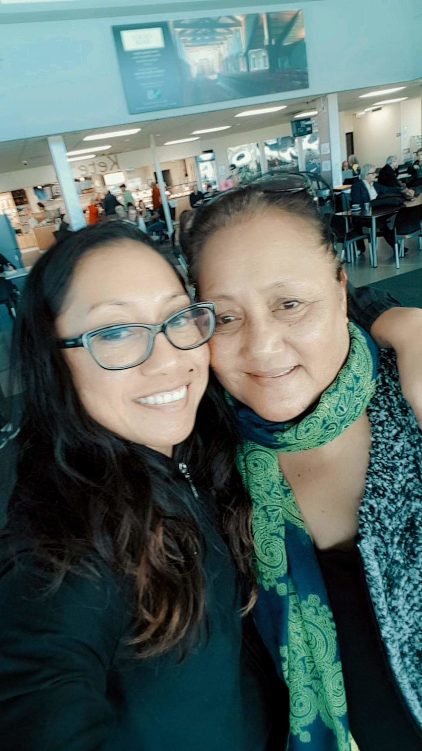 Priscilla and her mother Sega Va'asili-Tuala
