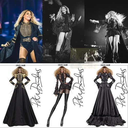 Beyonce costume designs by Peter Dundas