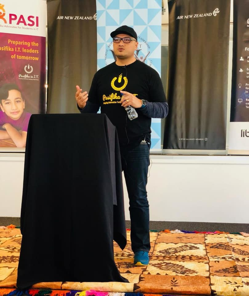 Speaking at a STEM event