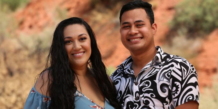 Asuelu Pula'a and his wife Kalani from the US reality TV show '90 Day Fiance'