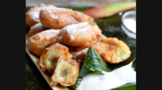 Fried Bananas with Sweet Coconut Sauce