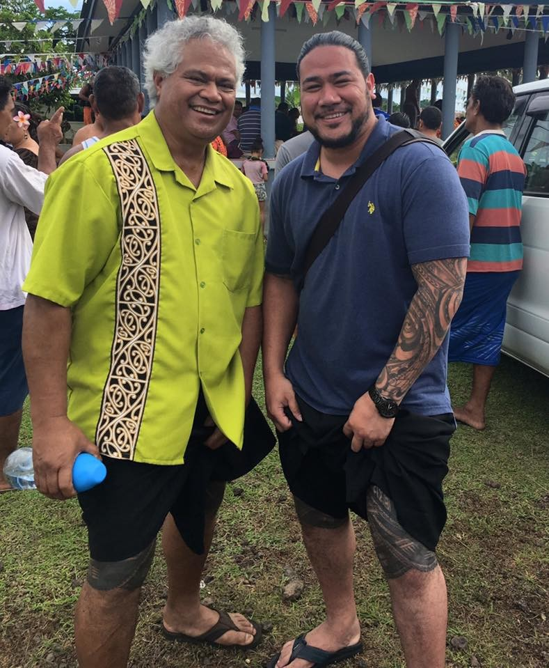 Tai and his uncle Toeutu Fa'aleava who he credits with inspiring him to pursue higher education