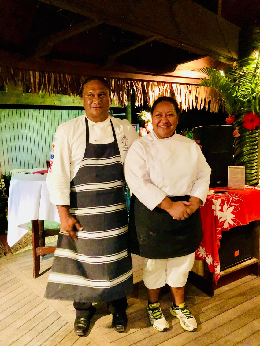 Chef Rangi Mitaera Johnson (Right)