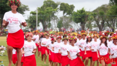 Papara Tahiti - World Record attempt of Ori Tahiti