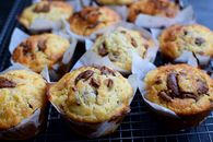 Coconut Oil Banana Choc Muffins