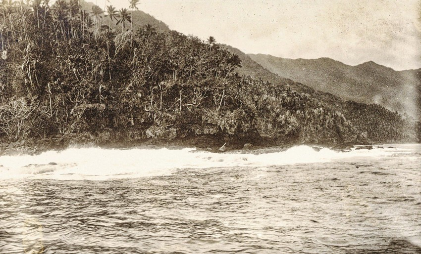 Fagaloa Coastline, 1915. Photo: Gesa Akkerman-Ohle Collection