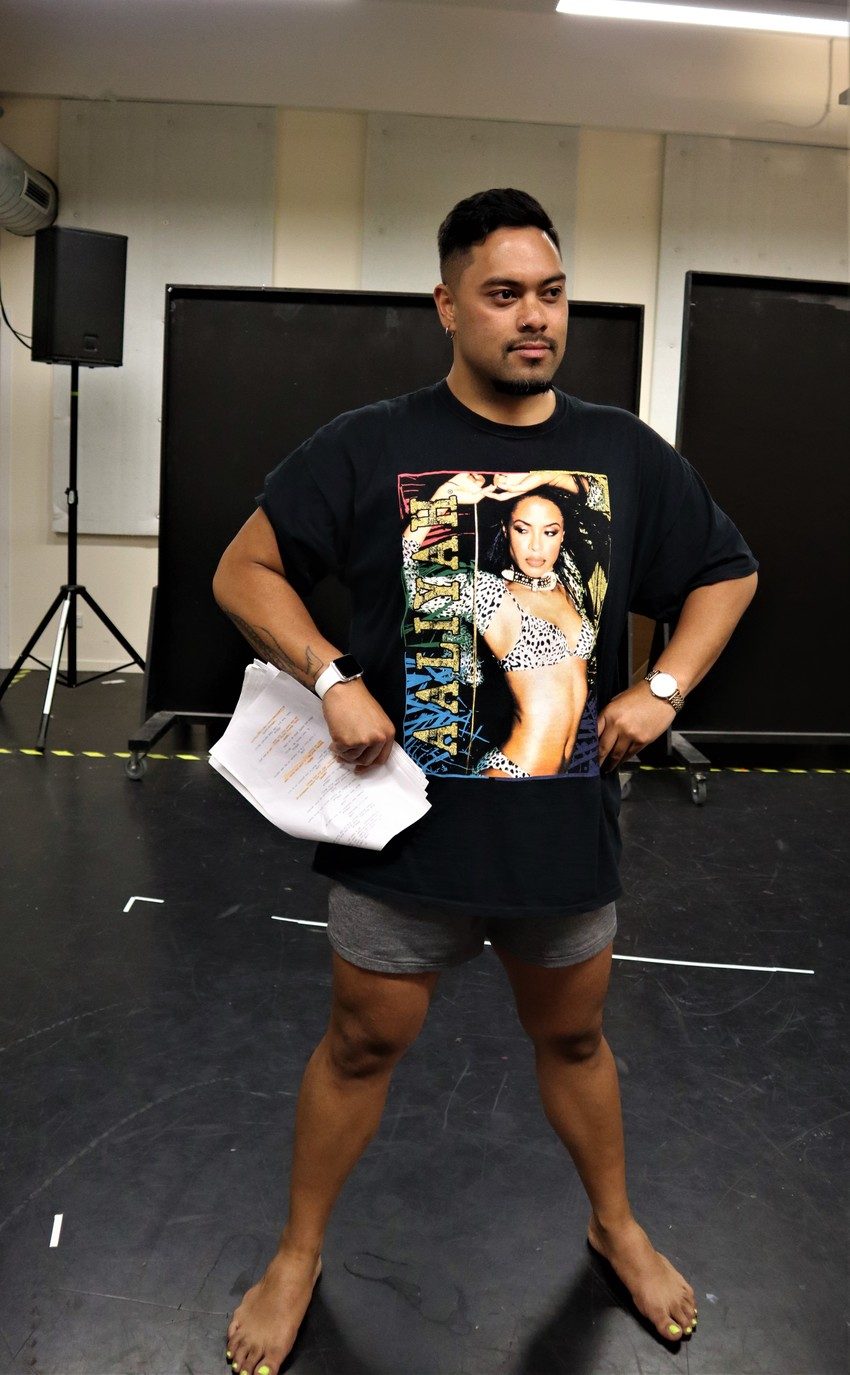 Mario Faumui in rehearsals for Uma Lava Photo Credit: Vela Manusaute