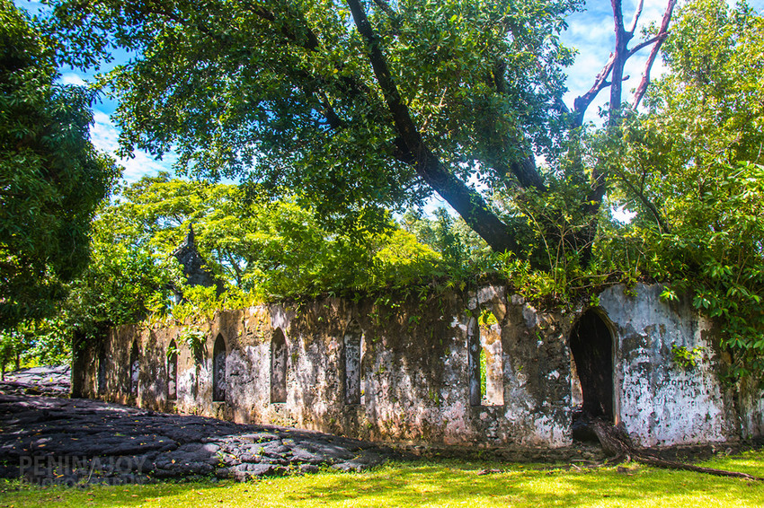 Ruins of one of the churches on the Saleaula Lava Fields