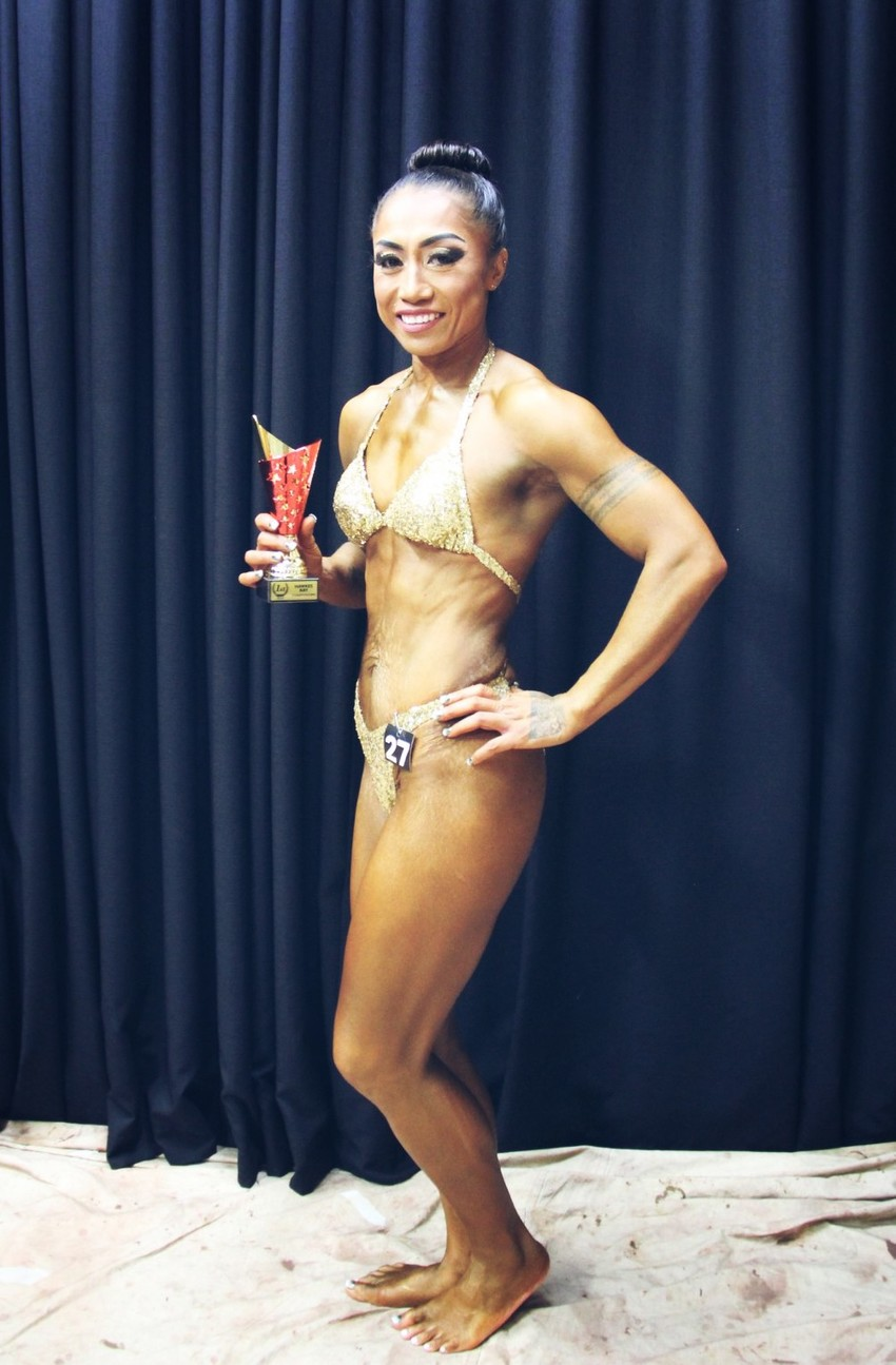 Priscilla - winner of Ms Hawkes Bay Physique 2019