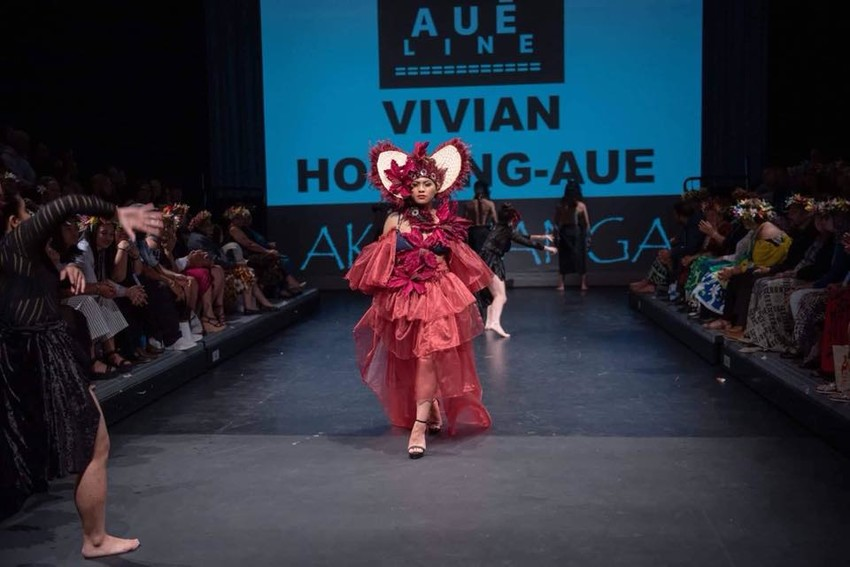 Aue Line Collection 'AKETEREI' showcased at the Cook Islands Fashion Show 'Aku Yanga'